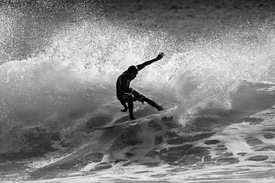 Photograph - Maui Surfer In Black And White by Pierre Leclerc Photography