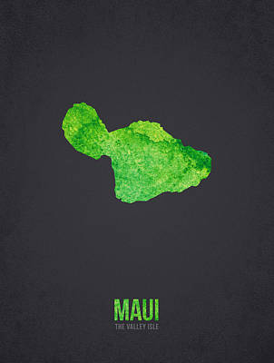 Molokai Digital Art - Maui The Valley Isle by Aged Pixel