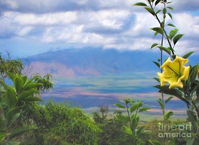 Photograph - Maui View by Peggy Hughes