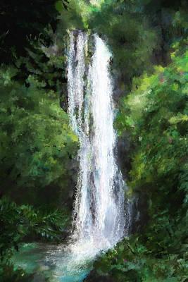 Maui Waterfall Art Print by Susan Kinney