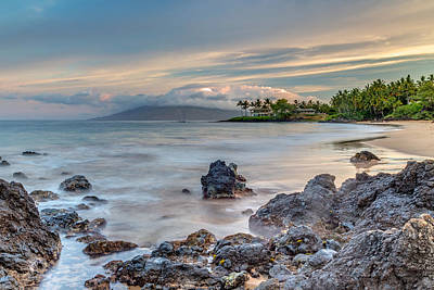 Photograph - Maui's Secret Beach At Sunrise by Pierre Leclerc Photography