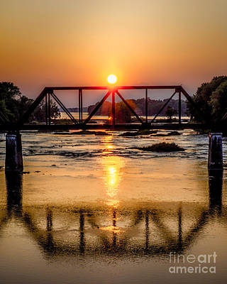 Maumee River At Grand Rapids Ohio Art Print