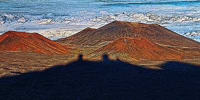 Mauna Kea Digital Art - Mauna Kea Shadow by Dan Sabin