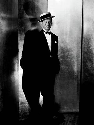 Chevalier Photograph - Maurice Chevalier Wearing A Boater Hat by Edward Steichen