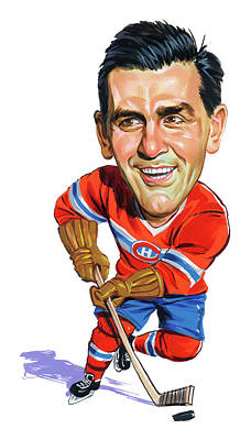 Montreal Canadiens Painting - Maurice Rocket Richard by Art
