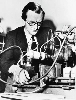 Maurice Wilkins Art Print by National Library Of Medicine