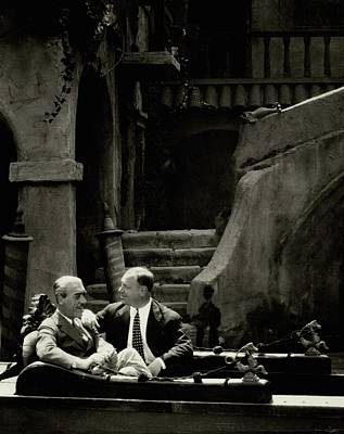 Mauritz Stiller And Emil Jannings On A Gondola Art Print