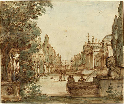 Mauro Antonio Tesi, Italian 1730-1766, Capriccio Art Print by Litz Collection