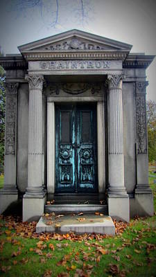 Photograph - Mausoleum Chaintron by Anita Burgermeister
