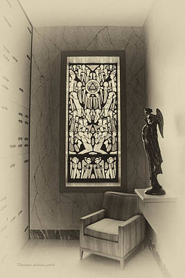 Leadlight Photograph - Mausoleum Stained Glass 02 by Thomas Woolworth