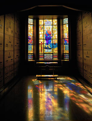 Leadlight Photograph - Mausoleum Stained Glass 06 by Thomas Woolworth