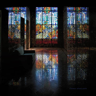 Leadlight Photograph - Mausoleum Stained Glass 08 by Thomas Woolworth