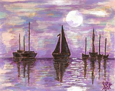 Painting - Mauve Bay by VLee Watson