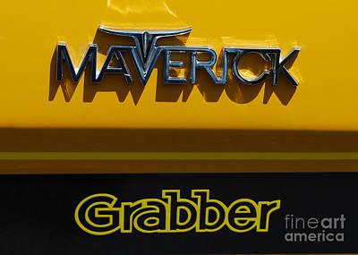 Photograph - Maverick Grabber Badge by Mark Spearman