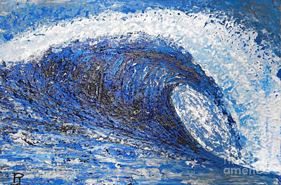 Mavericks Wave Art Print by RJ Aguilar