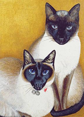 Mavis And Barnaby Art Print by Pat Scott