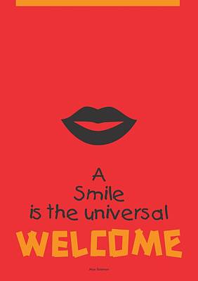Digital Art - Max Eastman Smile Quotes Poster by Lab No 4 - The Quotography Department