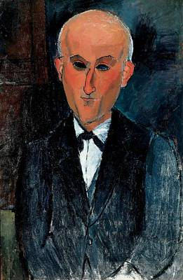 Photograph - Max Jacob, C.1916-17 Oil On Canvas by Amedeo Modigliani