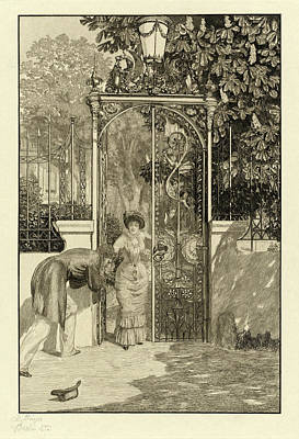 Max Klinger, At The Gate Am Thor Pl Art Print by Quint Lox