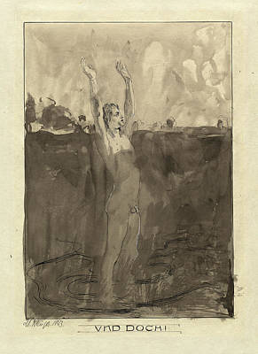 Wash Drawing - Max Klinger German, 1857 - 1920, Und Doch by Quint Lox