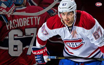 Montreal Canadiens Digital Art - Pacioretty Poster by Nicholas Legault