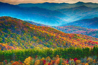 Painting - Max Patch Bald Fall Colors by John Haldane