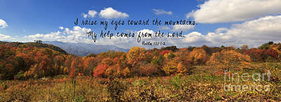 Photograph - Max Patch Panorama With Scripture by Jill Lang