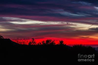 Sunset Photograph - Max Patch Sunset by John Haldane