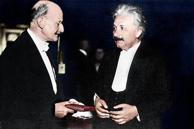 Max Planck And Albert Einstein Art Print by Science Photo Library
