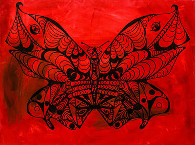 Max The Butterfly Painting - Max The Butterfly by Kenal Louis