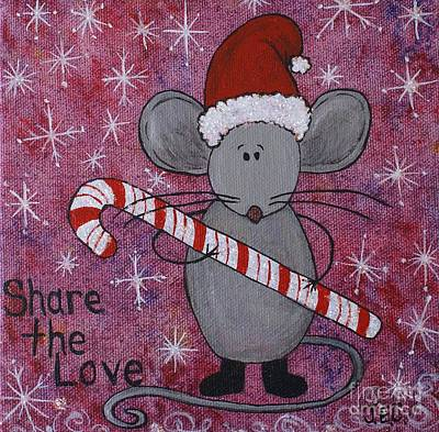 Art Print featuring the painting Max The Mouse by Jane Chesnut