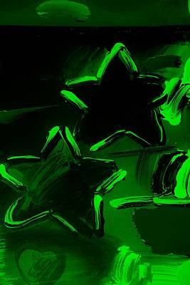 Max Two Stars In Green Art Print by Rob Hans