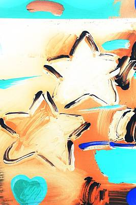 Mixed Media - Max Two Stars In Inverted Colors by Rob Hans