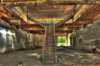 Reconstruction Photograph - Maxeys Iron Staircase by Reid Callaway