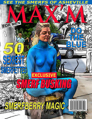 Digital Art - Maxim Magazine Parody by John Haldane
