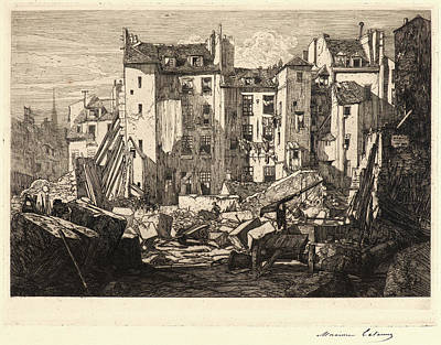 Maxime Lalanne French, 1827 - 1886. Demolition Art Print