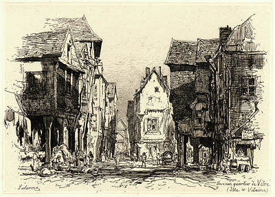 Maxime Lalanne French, 1827 - 1886. The Old Quarter Art Print by Litz Collection