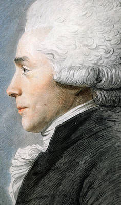 Ruff Painting - Maximilien De Robespierre  by Joseph Boze