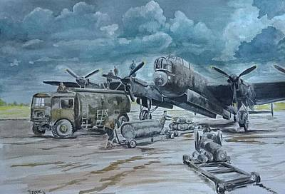 Raf Bomber Command Painting - Maximum Effort by James Crook