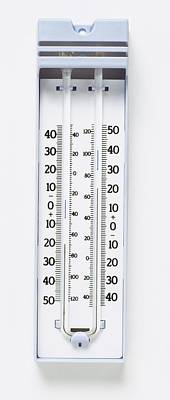 Thermometers Photograph - Maximum-minimum Thermometer by Dorling Kindersley/uig