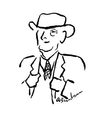 Abe Birnbaum Drawing - Maxwell Evarts Perkins by Abe Birnbaum