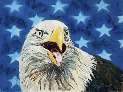 Yellow Beak Painting - Maxwell by Mary Benke