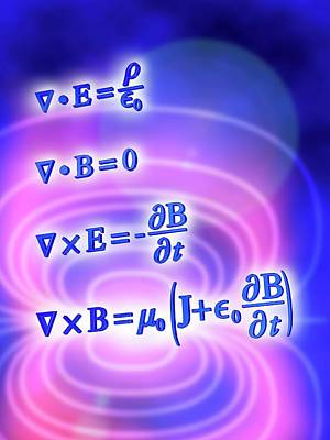 Maxwell's Equations Art Print