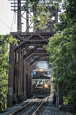 Ns Photograph - May 20 2014 - A Ns Coal Train At Rockport Ky by Jim Pearson