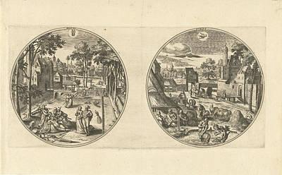 May And June, Adriaen Collaert, Hans Bol Art Print by Adriaen Collaert And Hans Bol And Hans Van Luyck