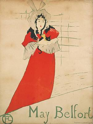 May Belfort Art Print by Toulouse-Lautrec