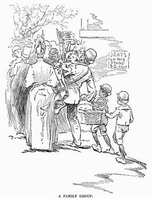 Flag Day Drawing - May Day Parade, 1889 by Granger