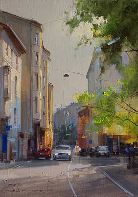 Moscow Wall Art - Painting - May Greens. Plotnikov Lane by Alexey Shalaev