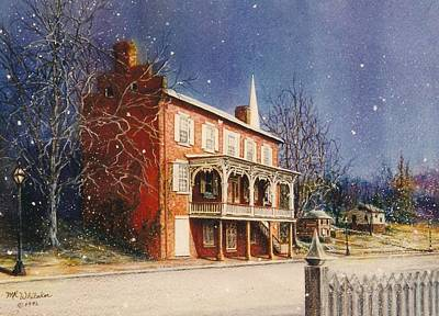 May House In Winter Art Print