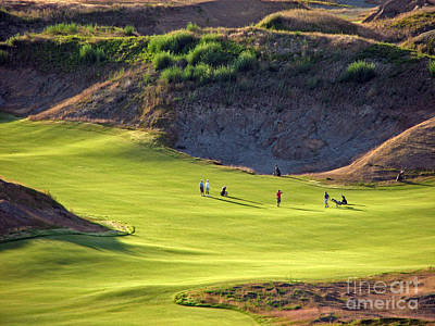 Photograph - May I Play Through? - Chambers Bay Golf Course by Chris Anderson